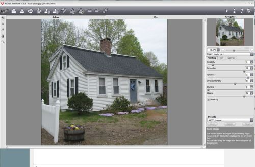 Editing one of the historic pictures using AKVIS Artwork 8.1.