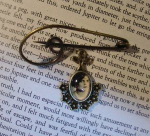 An old fashioned pin made with your old photo by Danette Taylor.