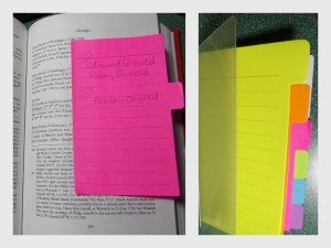 Redi-Tag Divider Notes would be handy when working in books or notebooks.
