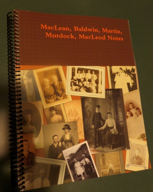 My spiral bound book used during my Family History Library visit in February.