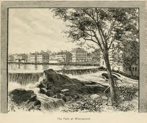 The Falls at Woonsocket, an 1870's view, from Picturesque Rhode Island by Wilfred Munro