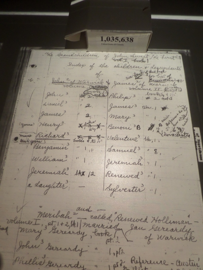 A page from a Sweet genealogy manuscript.