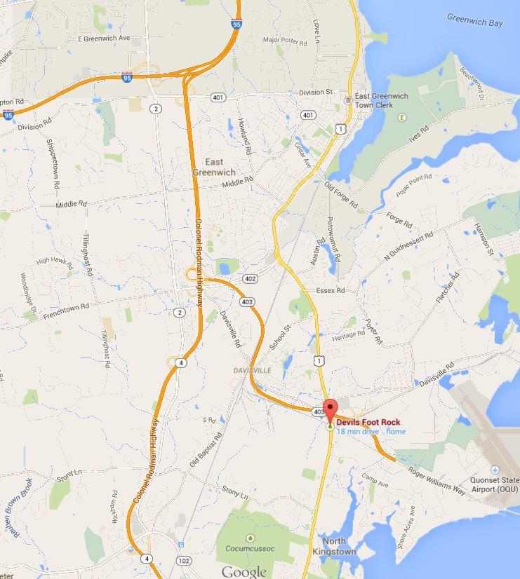 Devils Foot Rock – Google Maps | One Rhode Island Family