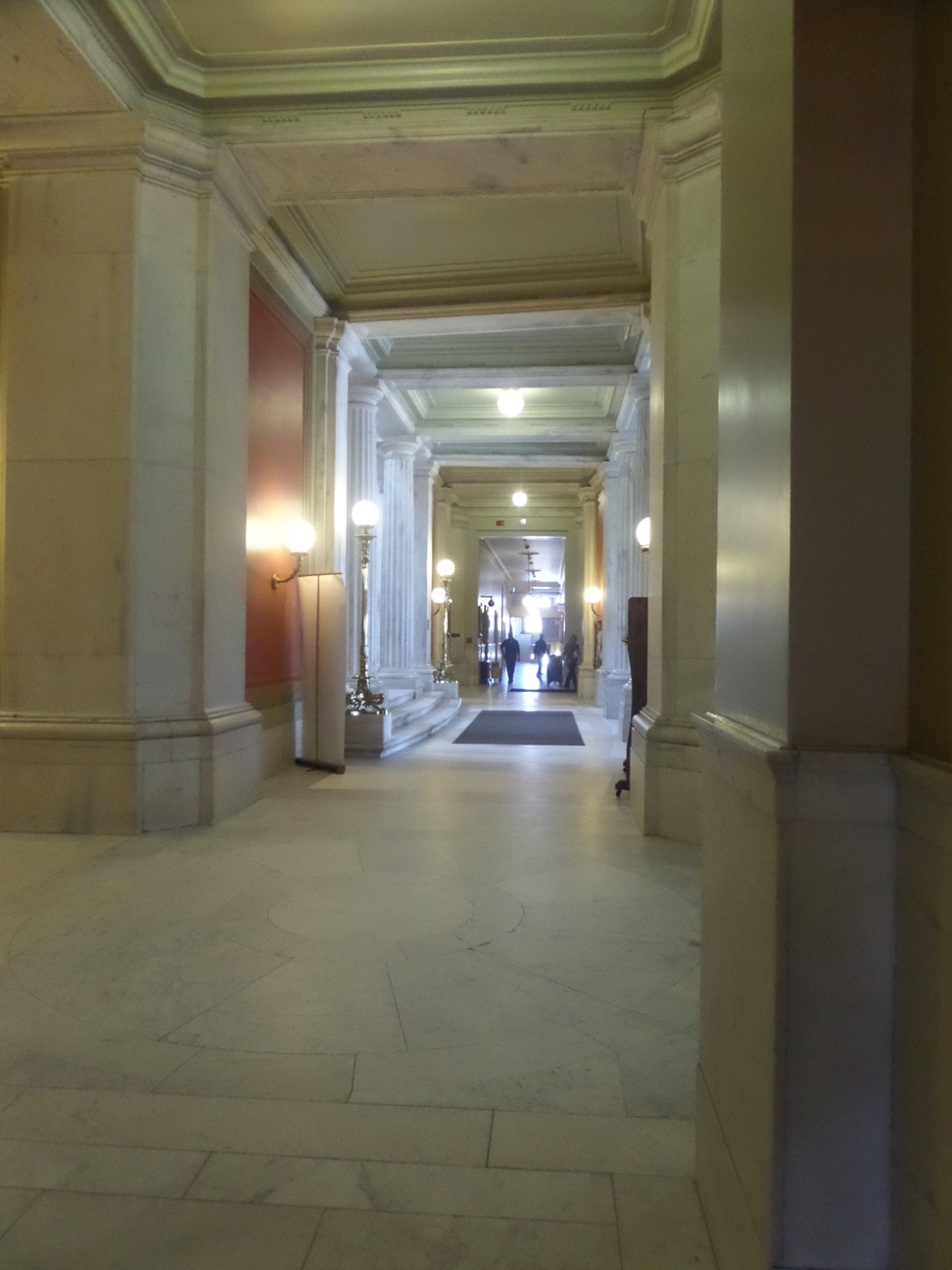 Completed in 1902, the State House is filled with marble.