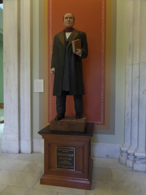I love this statue of Rhode Island's Thomas Dorr.  He fought for an extension of voting rights in the early 1840's.