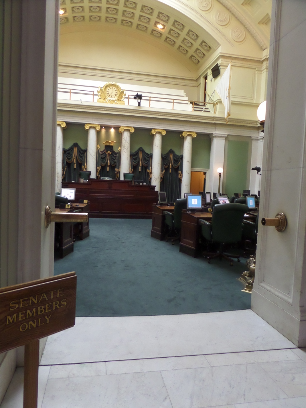 You can see how small the Senate Chamber is. It's a small state.