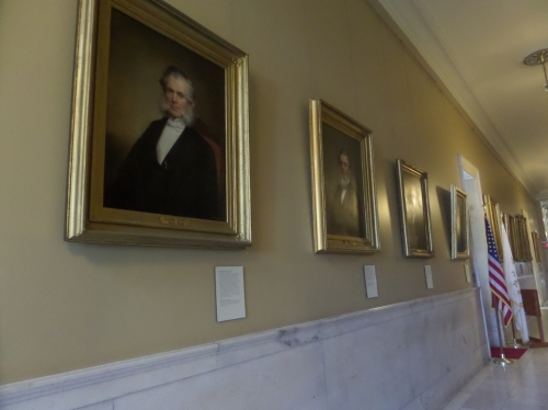 I was fascinated by the hallways filled with portraits - mostly R.I. Governors.