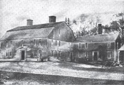 Photograph of Howe's Tavern, around 1860, from 1914 House Beautiful article