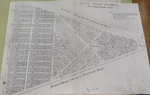 Map of Grace Church Cemetery from Box 47.  Will open larger.