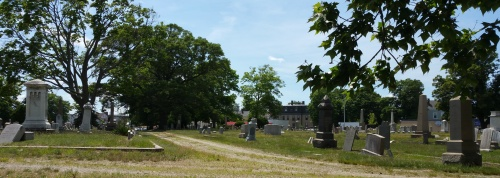Another view of Grace Church Cemetery.  Photo by Diane Boumenot.