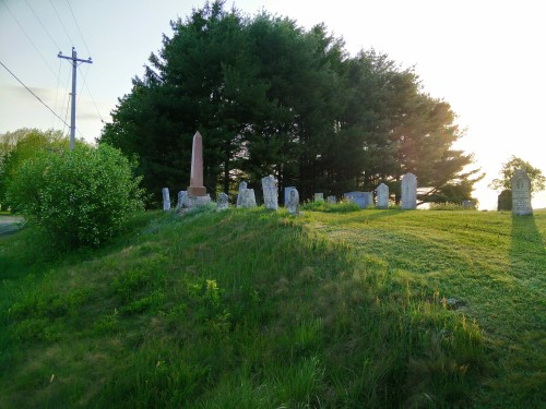 The beautiful Melanson Cemetery, Wolfville.