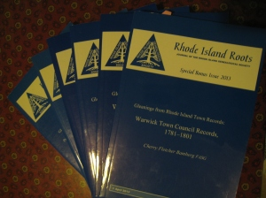 Special issues of Rhode Island Roots containing transcribed and indexed town records.  RIGS members receive these - a great reason to join!