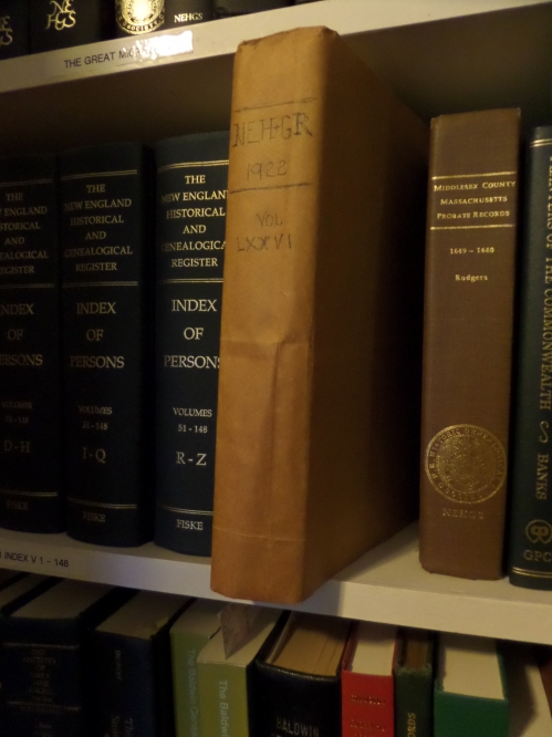The New England Historic Genealogical Register, all issues for 1923.
