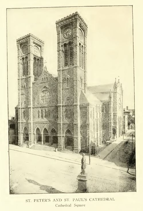 St. Peter's and St. Paul's Cathedral, Cathedral Square, Providence. The history of the state of Rhode Island and Providence Plantations, Volume 2, p. 616.