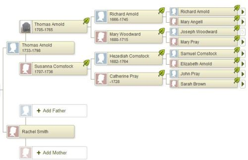 The missing Smiths, courtesy of my Ancestry tree