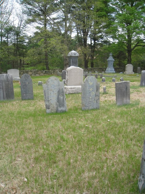 Graves of Asa and Lucy Aldrich at West Wrentham Cemetery. Photo by Diane Boumenot.