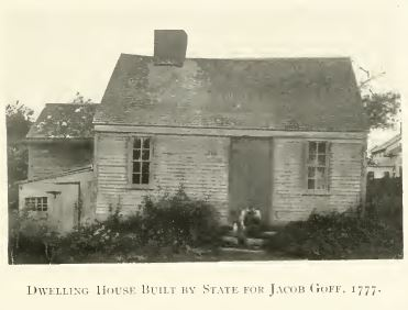 The dwelling house built by the state for Jacob Goff, 1777.  Part of the state's attempt to establish a powder mill during the Revolutionary War.  Annals of Centerdale, p. 35.