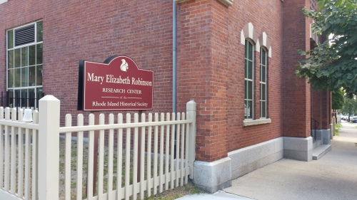 The newly renamed Mary Elizabeth Robinson Research Center of the Rhode Island Historical Society, Hope Street, Providence.