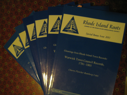 """""""Gleanings"""" - special issues of Rhode Island Roots."""