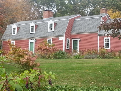 An early Sudbury house built by the Parmenters, in a line more closely related to Midge's husband than to mine.  Photo by Diane Boumenot.