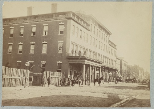 Mansion House Hospital, a Union Hospital in Alexandria, Virginia, where A.C. Clapp served as a Civil War citizen nurse. Library of Congress digital file LC-DIG-ppmsca-33628.