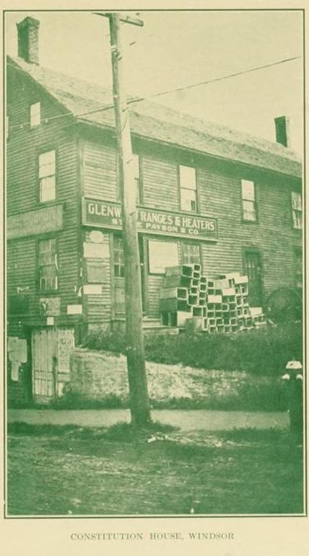 An old building in Windsor, from Vermont, the Unspoiled Land (1915) p37