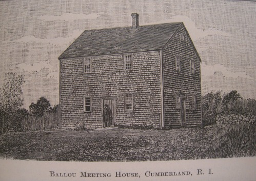 Ballou Meeting House, from An Elaborate History and Genealogy of the Ballous, p79