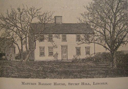 Maturin Ballou House , from An Elaborate History and Genealogy of the Ballous, p63