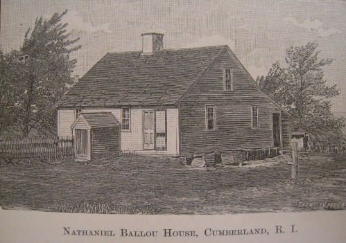 Nathaniel Ballou House , from An Elaborate History and Genealogy of the Ballous, p85