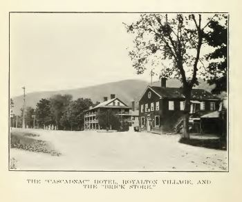 Royalton Village and brick store from History of Royalton