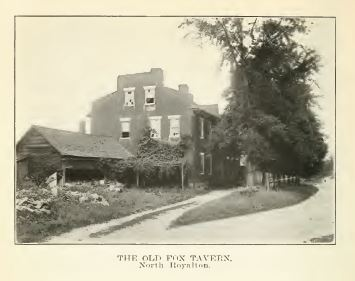 Tavern image from History of Royalton