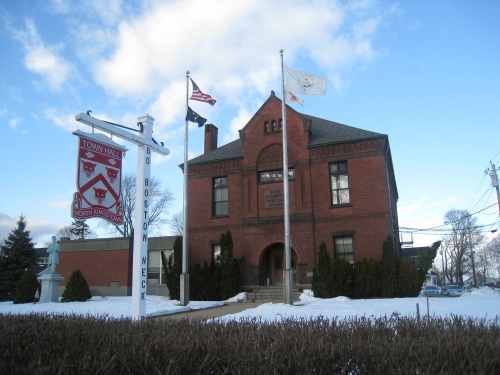 A 2013 photo of North Kingstown Town Hall.  Photo by Diane Boumenot.