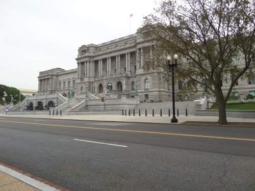 The Jefferson Building of the Library of Congress, across from the Capital building.