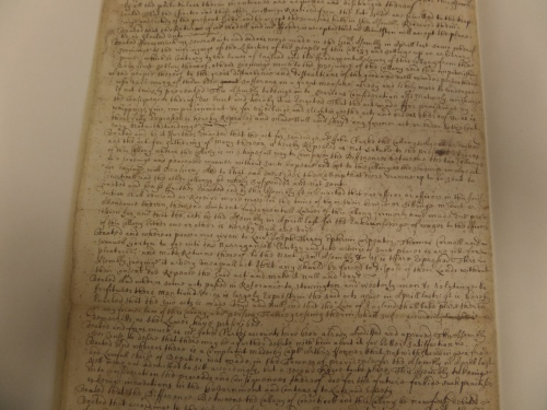 A sample page of the manuscript of Rhode Island General Assembly records, hhh