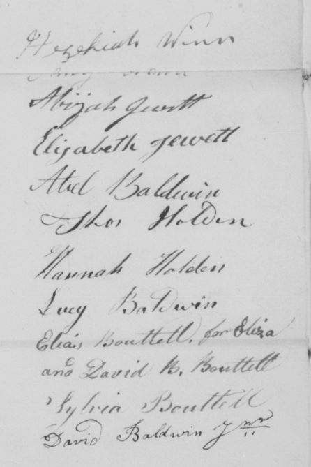 Signatures on the guardianship papers, 1821