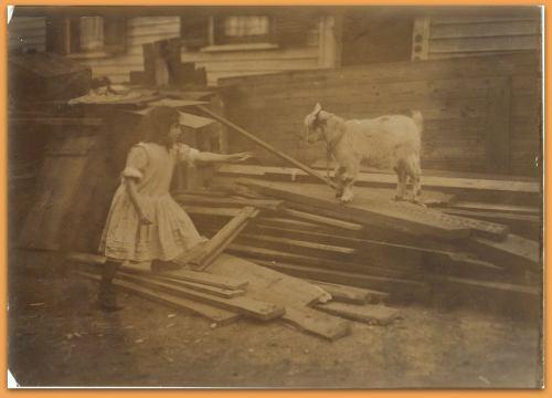 Back-yard, Spruce Street, Providence, R.I. Location: Providence, Rhode Island. LC-DIG-nclc-04798 (color digital file from b&w original print)