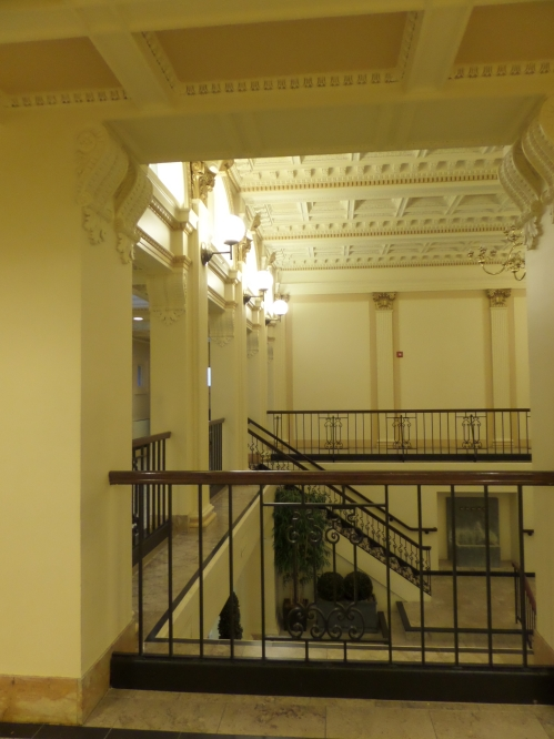 Providence Public Library. Always be sure to take a good look around; it's a lovely old place.