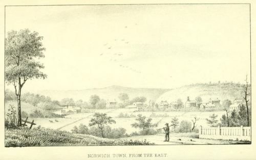 Norwich Town from the East.  from History of Norwich, Connecticut, from its settl... p.front