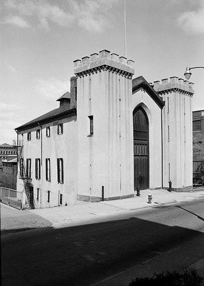 Providence Marine Corps Arsenal, 176 Benefit Street, Providence. From Prints and Photographs Division, Library of Congress (HABS RI,4-PROV,55)