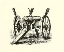 Civil War artillery. From History of the Ninth and Tenth Regiments Rhode Island Volunteers, p. 117.
