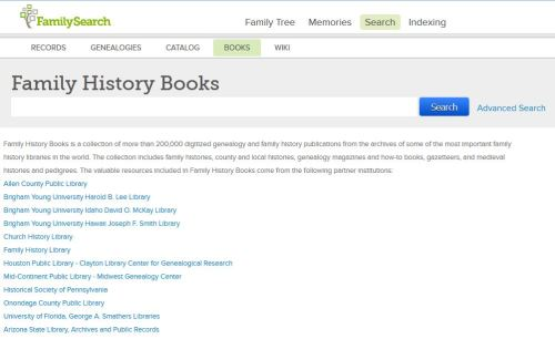 Books section of FamilySearch.org - I would use the search box on this page.