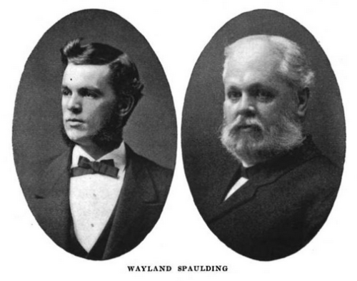 Wayland during his Yale years, and later in life. From Biographical Record of the Class of 1874 in Yale College: Part Fourth, 1874-1909, page 195. (New Haven, Tuttle, 1912).