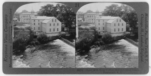 Slater Mill, first cotton mill in the United States, Pawtucket, R.I. Library of Congress LC-USZ62-116492