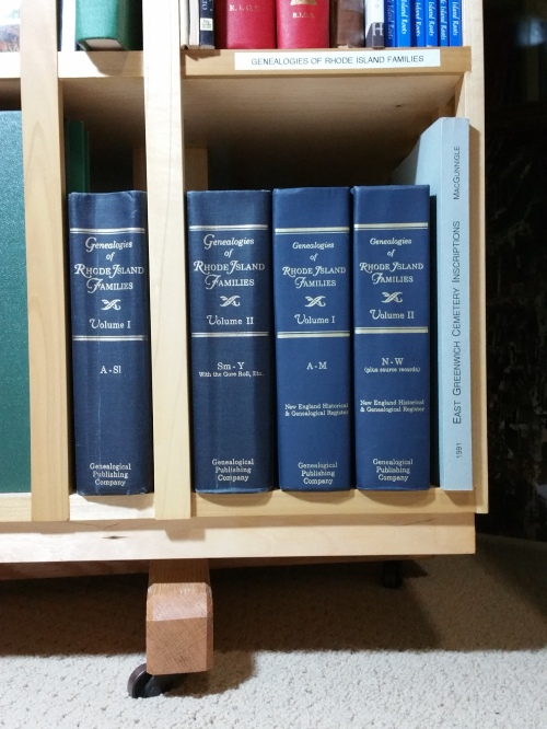 The two sets of Genealogies of Rhode Island Familes.