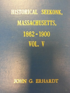 There are at least five volumes in this set, by John G. Erhardt. This volume contained an 1888 newspaper extract about a barn fire at the home of my ggg-grandfather, William Murdock.