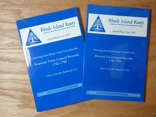 You can always join the Rhode Island Genealogical Society and let the experts transcribe and index those town records for you. One volume per year!